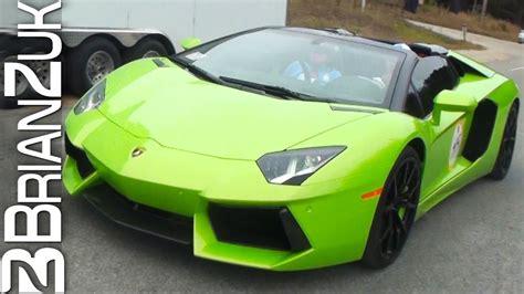 Green Lamborghini Aventador LP700 4 Roadster   YouTube