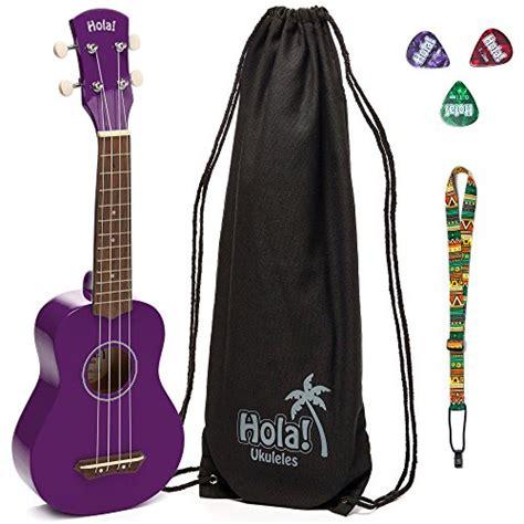 Purple Bag Picks by Hola Hm 21pp Ukulele Bundle With Canvas