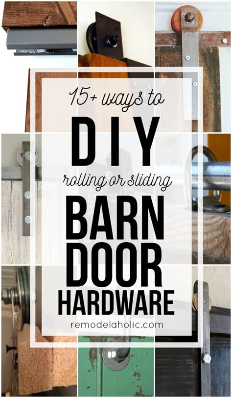 How To Make Your Own Barn Door Hardware Sliding Barn Doors Make Your Own Sliding Barn Door Hardware