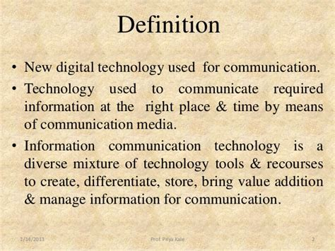 what is meaning of meaning of ict