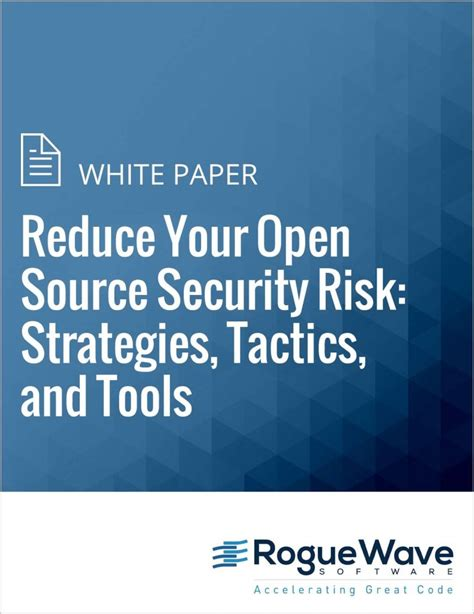 white paper reduce your open source security risk