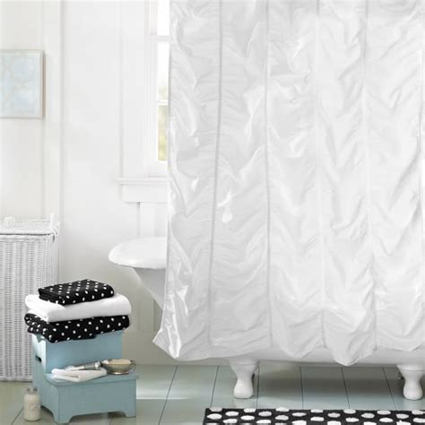 ruched shower curtain ruched shower curtain pbteen
