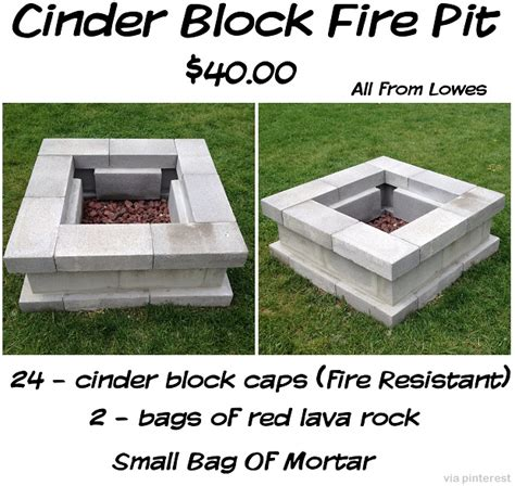 cinder block firepit diy projects 15 ideas for using cinder blocks survival