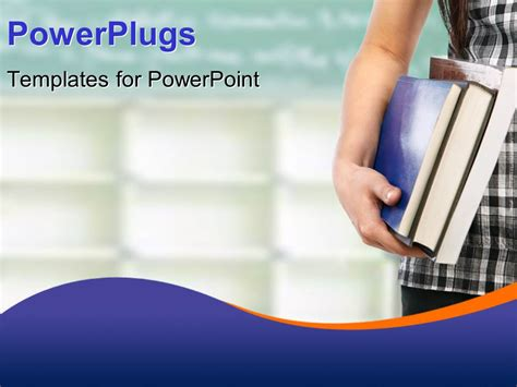 powerpoint template student with books depicting