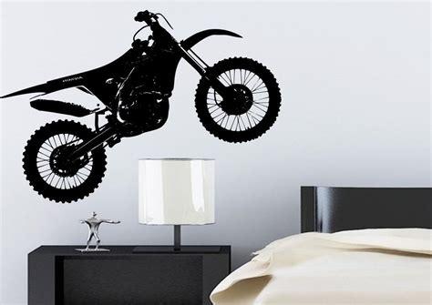 motocross wall stickers crosser motocross bike wall sticker bedroom stencil
