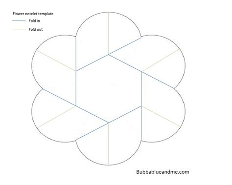 Origami Paper Template - make a pretty origami flower notelet bubbablue and me