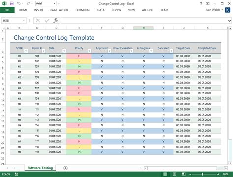 excel edit themes pretty quality control log template ideas resume ideas