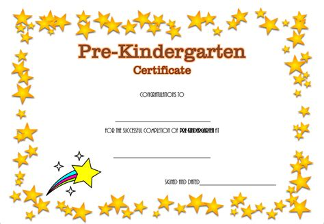 Pre Kindergarten Diploma Certificate 4 The Best Template Collection Pre K Graduation Diploma Template