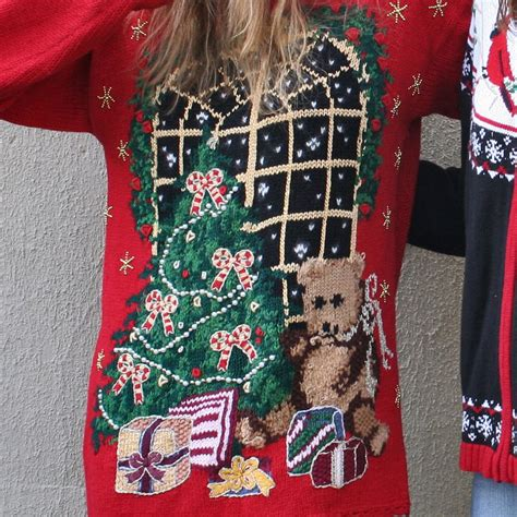 the gallery for gt tacky christmas sweater tree
