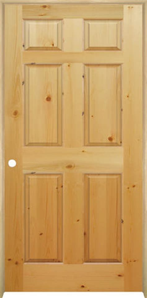 6 Panel Knotty Pine Interior Doors Mastercraft Knotty Pine Raised 6 Panel Prehung Interior Door At Menards 174