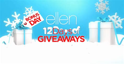 Ellentv 12 Days Of Christmas Giveaways - ellen 12 days of giveaways 2015 share the knownledge