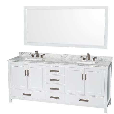 80 Inch Sink Bathroom Vanity shop for white contemporary bath vanities bathroom