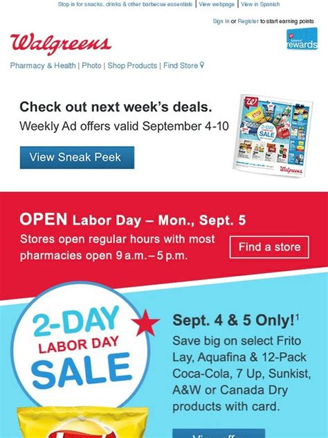 walgreens open on walgreens sneak peek deals celebrate with savings we