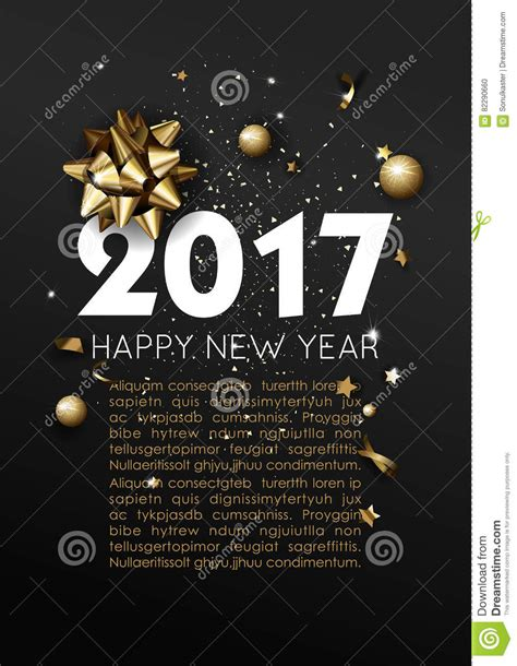 happy new year card template happy new year 2017 greeting card or poster template flyer
