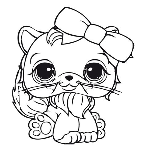 lps coloring pages printable free angel cats lps coloring pages