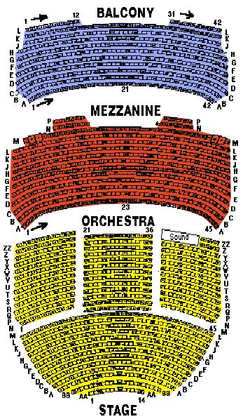ahmanson theatre seating chart los angeles ahmanson theater seating chart ticket solutions