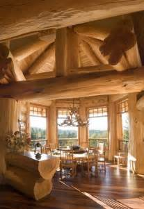 Log Homes Interior Pictures by Back To Roots Back To Wood With Log Home Interiors