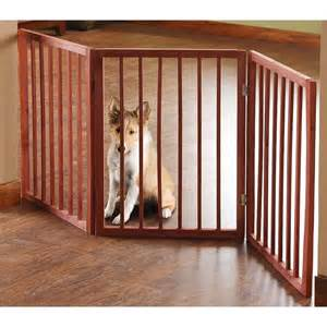 doggie gate pet parade folding wood pet gate animal safety fence pen
