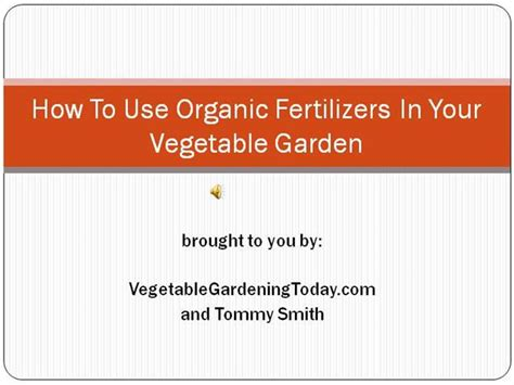 How To Use Organic Fertilizers In Your Vegetable Garden How Much Fertilizer To Use In Vegetable Garden
