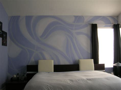 room wall hand design crazy interior paint designs hand painted purple and silver wall pattern