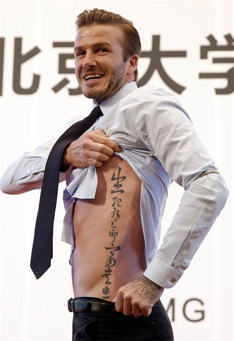 beckham palm tattoo david beckham harper tattoo daily star