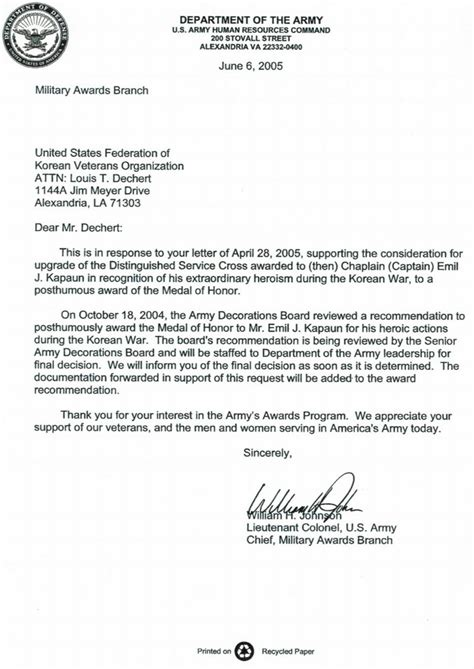 Recommendation Letter Navy Letter Of Recommendation For Best Template Collection