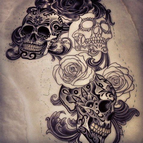 men s sugar skull tattoo 17 best images about cool designs on