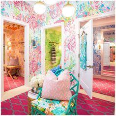 lilly pulitzer bedroom wallpaper walls of fun wallpaper on pinterest damask wallpaper