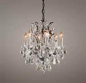 Small Iron Chandelier 19th C Rococo Iron Small Chandelier