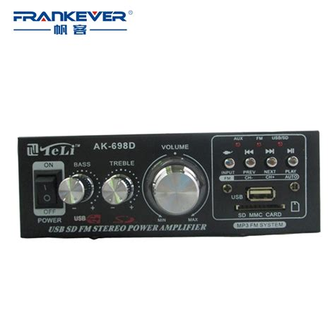 Amflifier Stereo Acoustic Ac 137 free shipping usb sd dc12v ac 220v audio hi fi lifier stereo subwoofer bass lifier 2 1