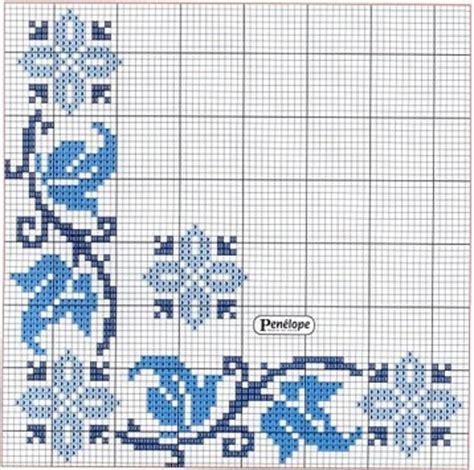 cenefas para manteles punto de cruz cenefas para manteles en azul a dark