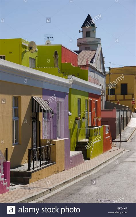 Bo Afrika colourful houses in a in bo kaap cape town south