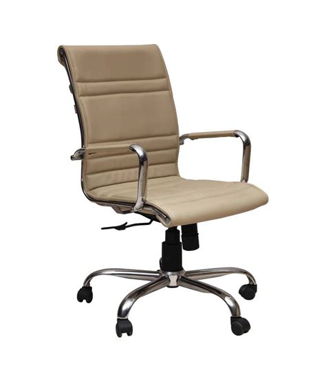 beige office desk chair sleek office chair in beige buy online at best price in