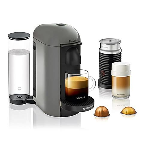nespresso bed bath beyond nespresso 174 by breville vertuoplus coffee machine with
