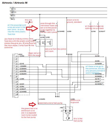 webasto wiring diagram images electrical circuit