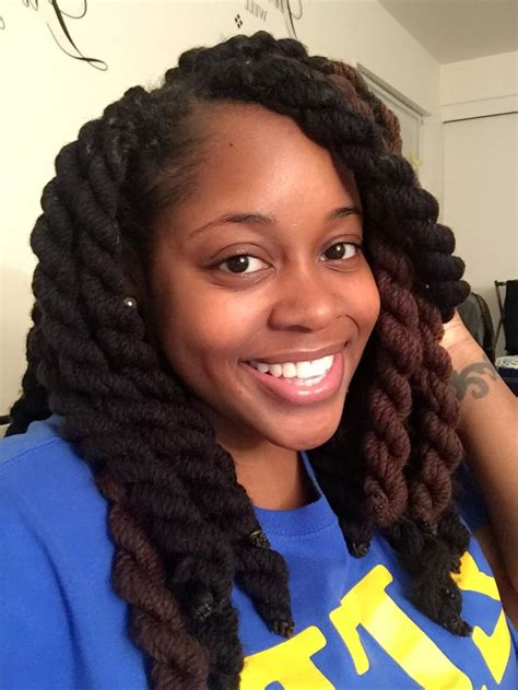 bigger micro braids jumbo yarn twists 8 strings per twist natural hair