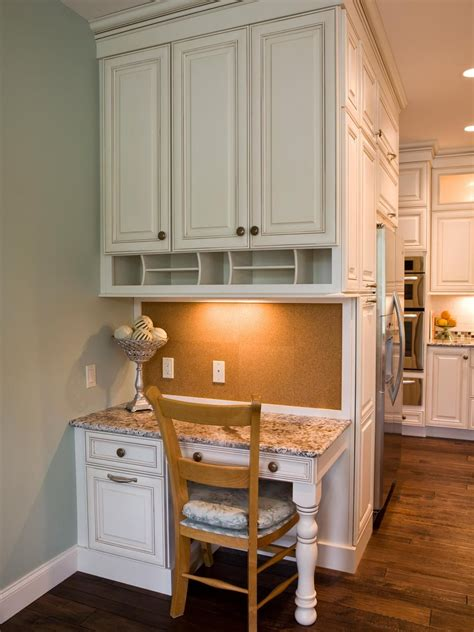 Kitchen Area by This Custom Designed Kitchen Desk Area Features Plenty Of
