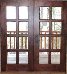 Solid Exterior Wood Doors Black Metal Handle For Custom Solid Wood Exterior Patio Doors With Glass Insert Ideas