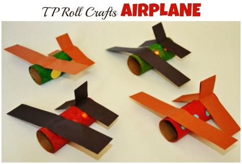 paper airplane craft paper roll craft airplane littles