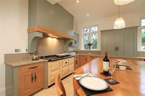 Bespoke Kitchens Ideas in frame oak amp painted shaker kitchen in farrow amp ball