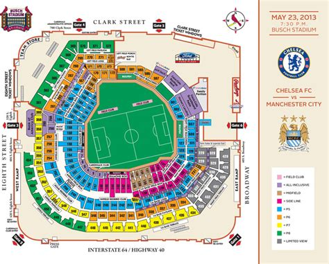 bush stadium seating chelsea vs mancity may 23rd in busch stadium sgf soccer