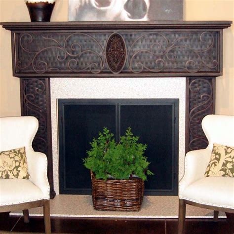 Iron Fireplace Mantel by Scroll Wrought Iron Fireplace Mantel