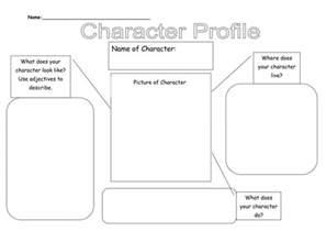 character description template ks1 character profile by lauraexplorer teaching resources tes