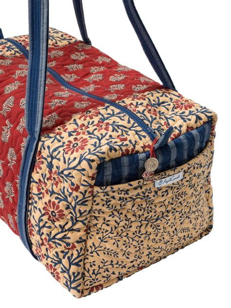Patchwork Duffle Bag - flea market patchwork duffle bag attic sale your home