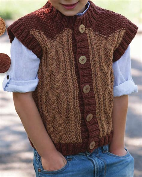knitting pattern for boys vest boys vest knitting pattern