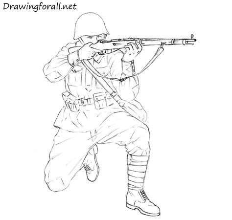 how to draw a army boat step by step how to draw a soviet soldier drawingforall net