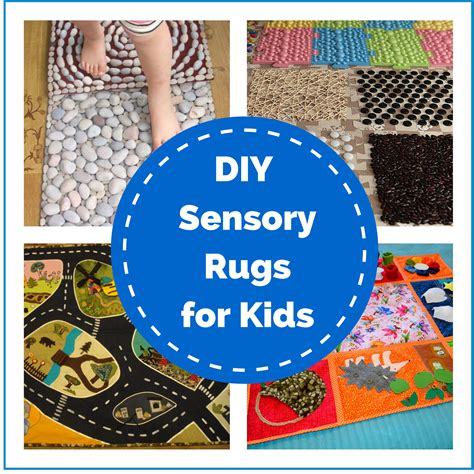 diy sensory rugs for montessori nature