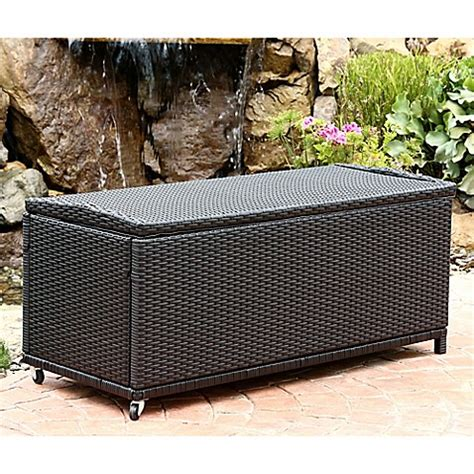 bed bath and beyond pasadena abbyson living 174 pasadena outdoor wicker storage ottoman in