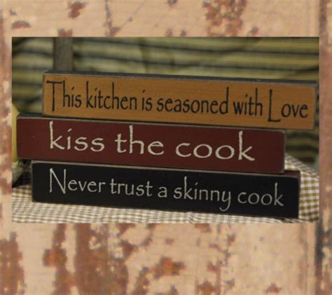 Shelf Trust by Country Kitchen Decor Signs Sayings The Cook