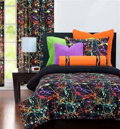 neon comforter neon splat by crayola bedding beddingsuperstore com
